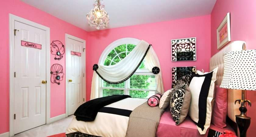 Decoration Cute Teenagers Bedroom Wonderful Chndelier Pink