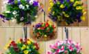 Decorative Artificial Pansy Ball Flower Hanging