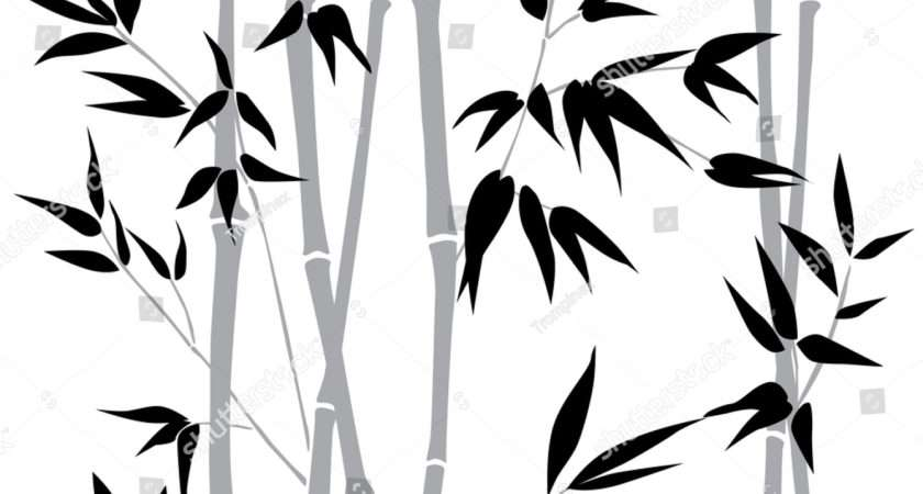 Decorative Bamboo Branches Forest