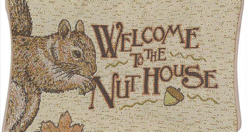 Decorative Pillows Welcome Nut House Throw Pillow