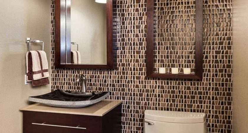 Decorative Small Bathroom Backsplash Ideas