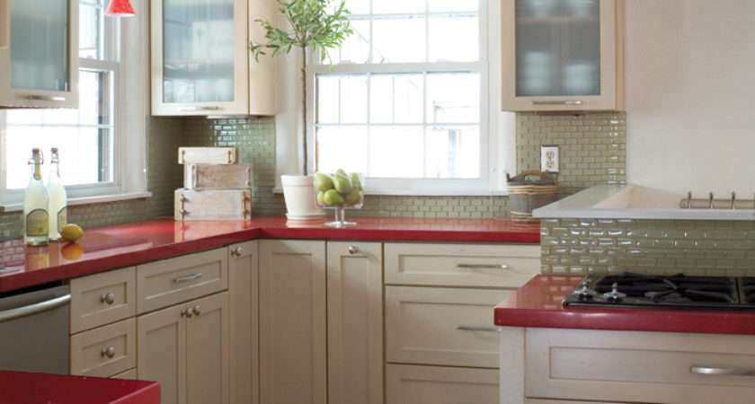 Delorme Designs Seeing Red Countertops