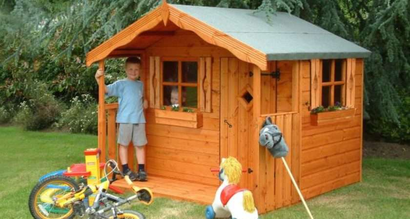 Den Childrens Wooden Play Houses Garden