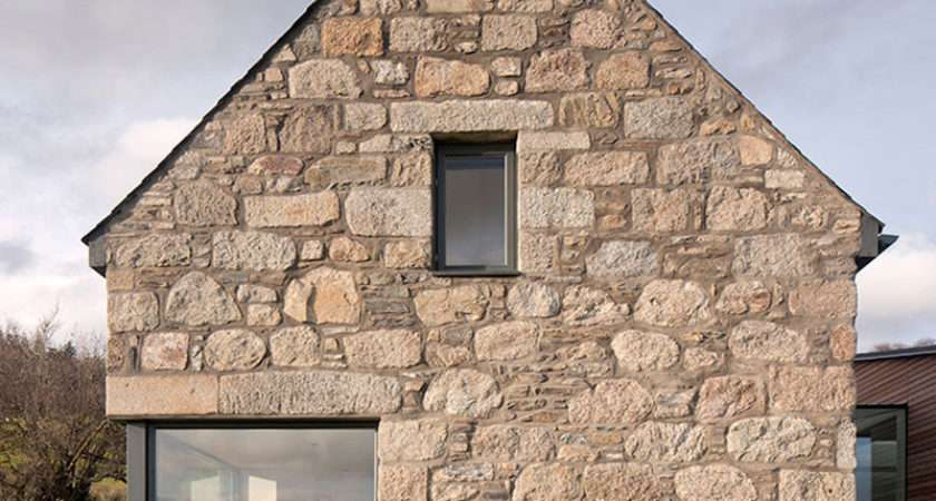 Derelict Stone Buildings Restored Contemporized Into