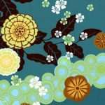 Design Floral Graphics Japanese Style Bold