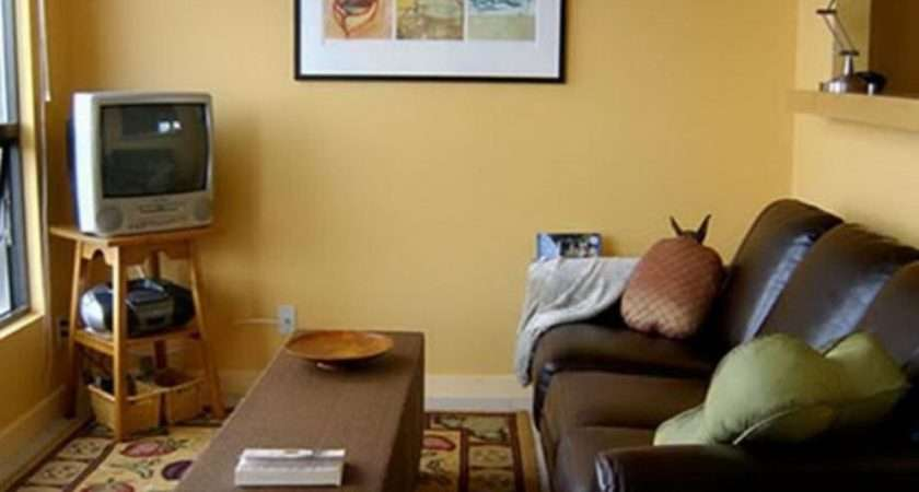 Design Ideas Small Room Colors Paint Cream Wall Brown