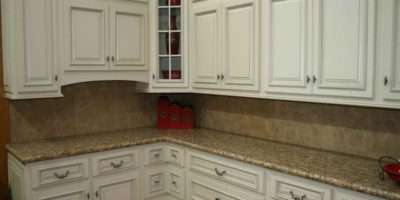 Design White Kitchen Cabinets Granite Countertop Heimdecor