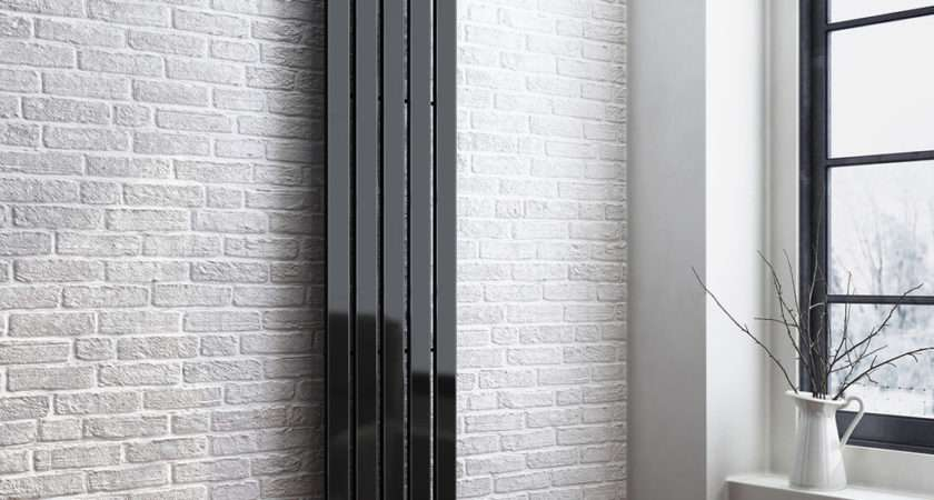 Designer Black Tall Vertical Column Radiator Rad Ebay