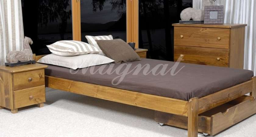 Details New Pine Ikea Small Double Bed Under Drawer