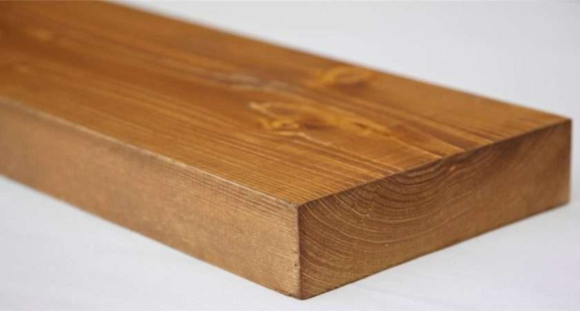 Details Wooden Floating Shelf Solid Rustic Pine Wood Next Day