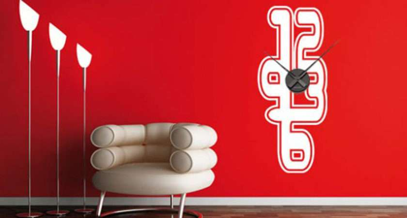 Dezign Retro Pop Style Make Wall Sticker Clock Looks Fun