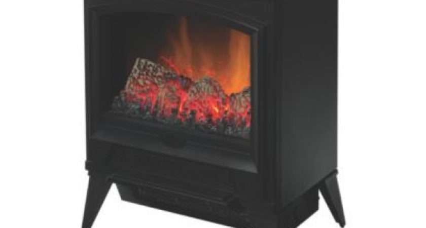 Dimplex Casper Black Electric Stove Screwfix