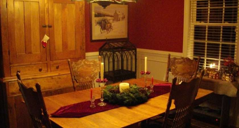 Dining Room All Decorated Christmas