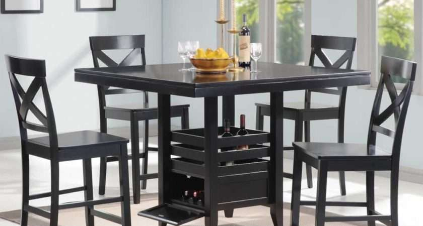 Dining Room Awesome Black Table Sets Design