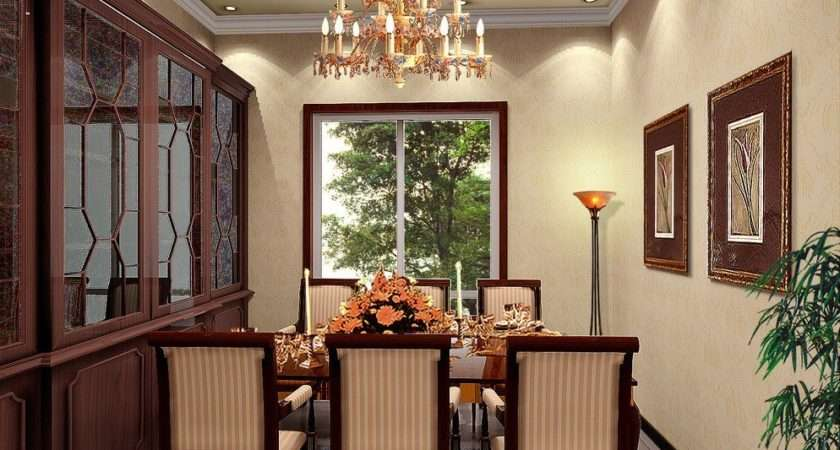 Dining Room Chandelier Cabinet Table Chairs