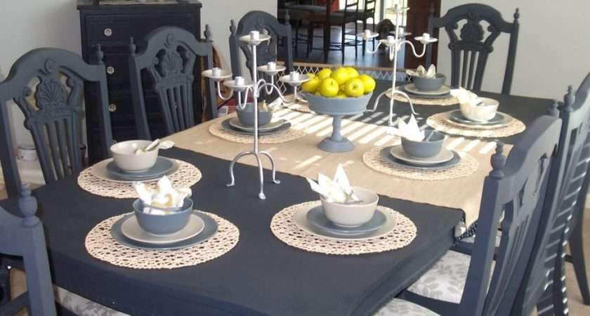 Dining Room Table Painted Grey Brokeasshome