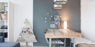 Dining Space Sparkling Christmas Tree Design Lux