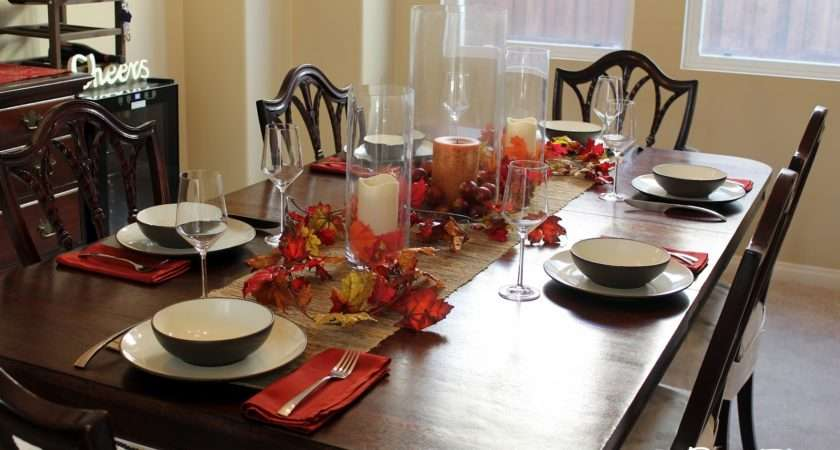 Dining Table Decorating Fall