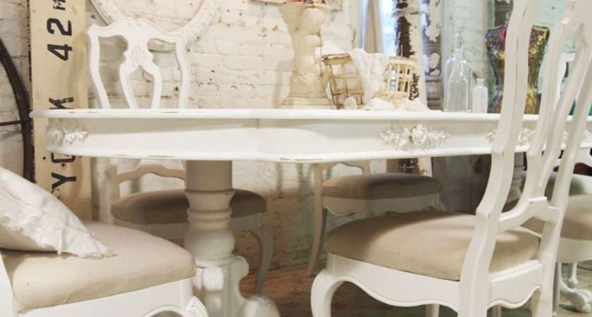 Dining Table French Shabby Chic