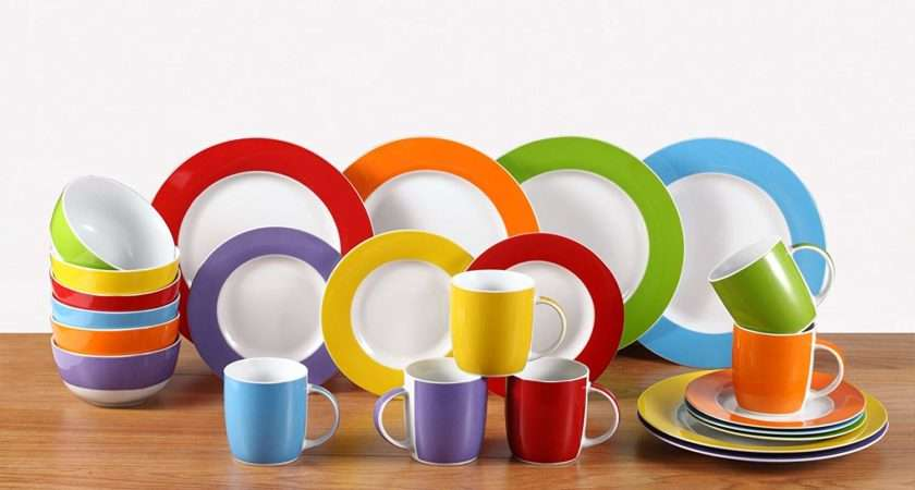 Dinner Set Pcs Dinnerware Dishes Porcelain Crockery Round