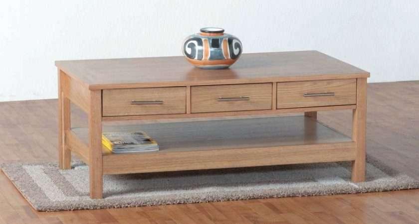 Discount Furniture Flat Pack Oakliegh Drawer Coffee