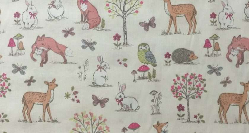 Discover Direct Lifestyle Woodland Cotton Fabric Animal