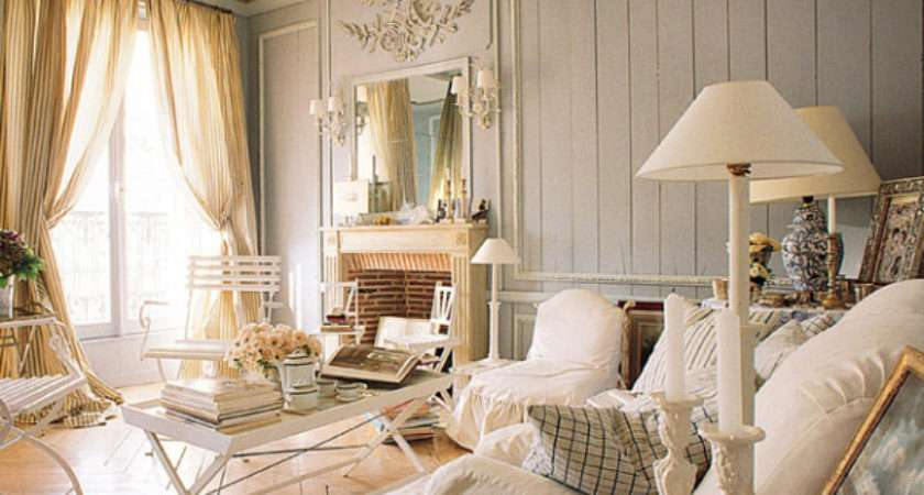 Distressed Yet Pretty White Shabby Chic Living Rooms