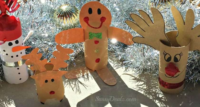 Diy Christmas Toilet Paper Roll Craft Ideas Kids Crafty Morning