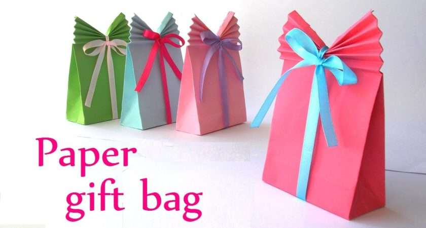 Diy Crafts Paper Gift Bag Easy Innova Youtube
