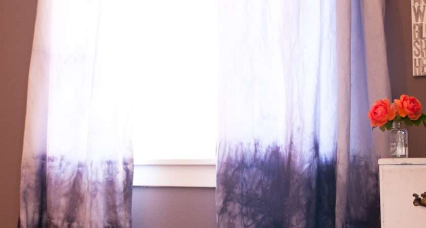 Diy Dip Dyed Curtains Chic