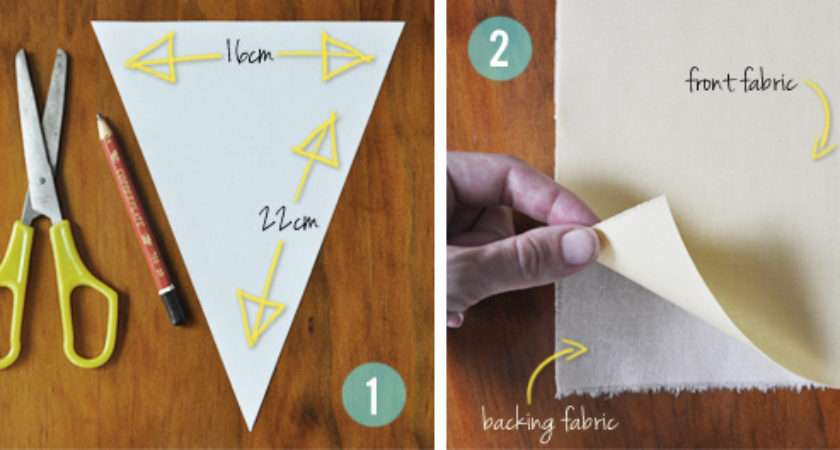 Diy Fabric Bunting Flags Tutorial Painted Hive