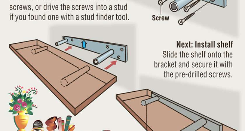 Diy Install Floating Shelf Project Remarkably Simple