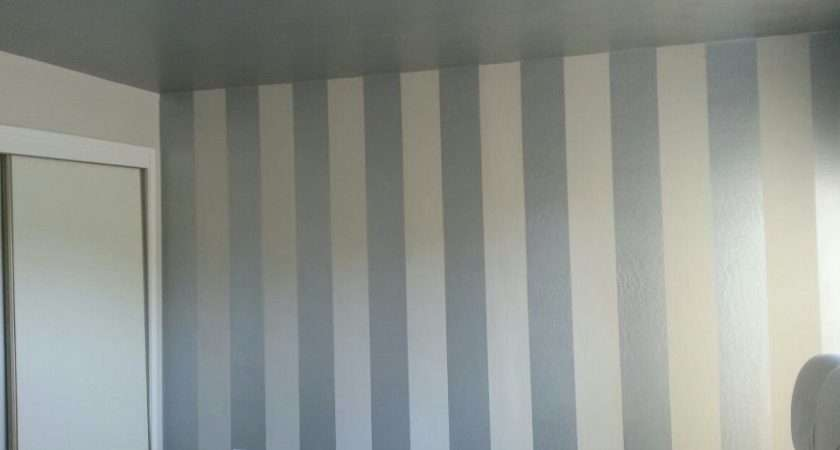 Diy Interior Painting Vertical Stripes Make Ceilings Look