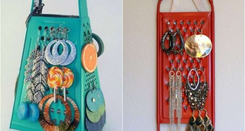 Diy Jewelry Storage Ideas Cheese Grater Earring Holder