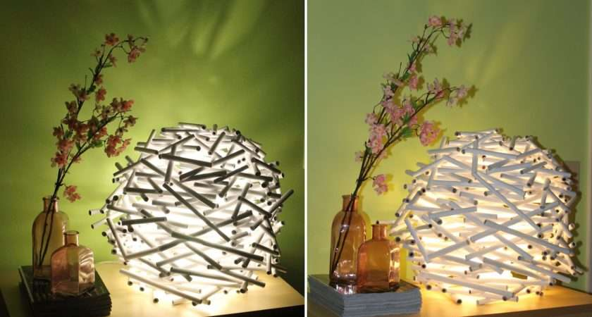Diy Make Bird Nest Lamp Shade Out