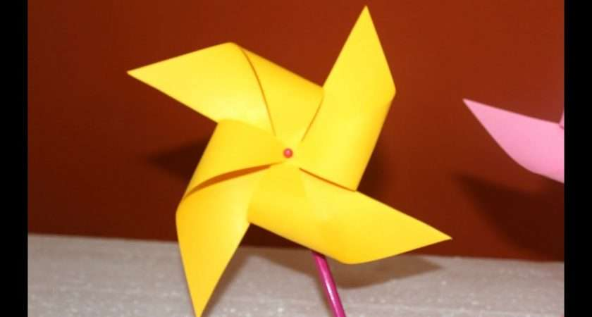 Diy Make Paper Windmill Spins Easy Project