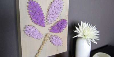 Diy Project Home Decor String Wall Art Nails Upcycle Craft Tutorial