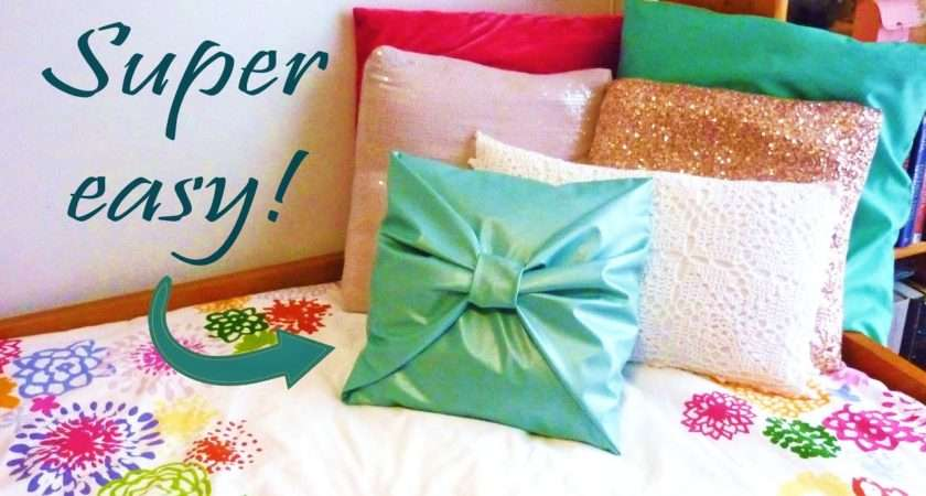 Diy Room Decor Sew Bow Pillow Cover Youtube
