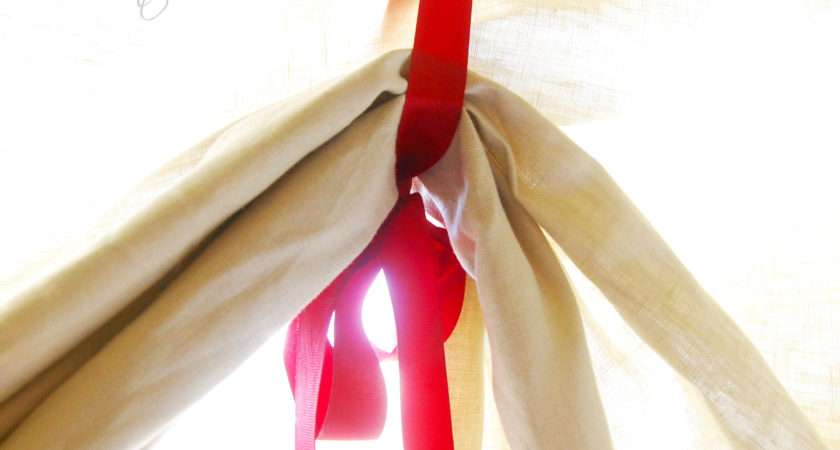 Diy Sew Tie Curtains
