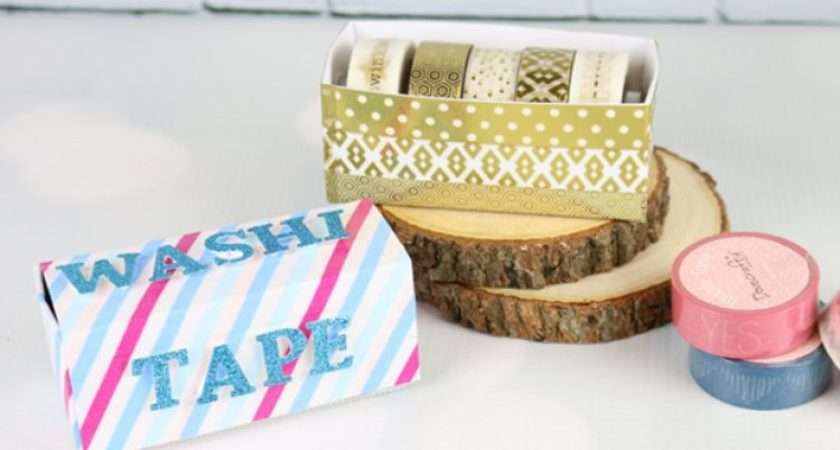 Diy Washi Tape Storage Tutorial Printable Template Trimcraft