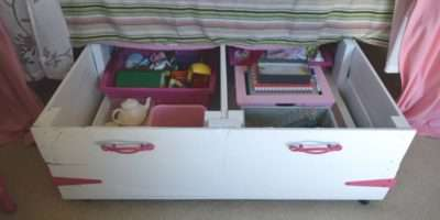 Diy Wood Pallet Under Bed Toy Storage Our House Now Home