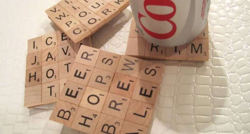 Dollar Store Crafts Blog Archive Make Scrabble Tile Coasters