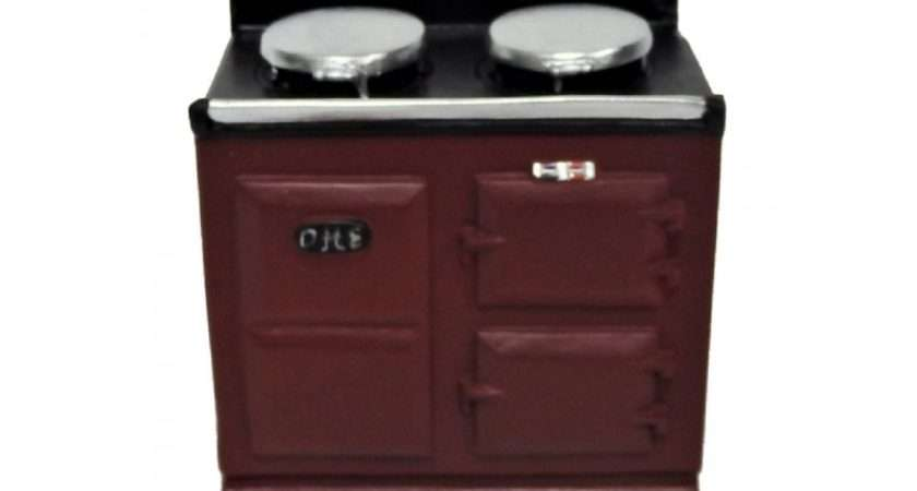 Dolls House Oven Red Aga Stove Cooker Miniature Kitchen