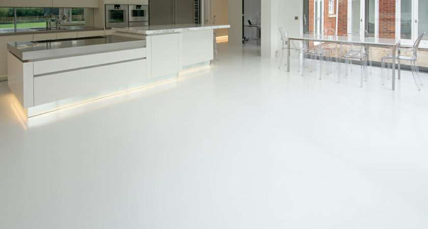 Domestic Resin Flooring Room Kitchen Diner