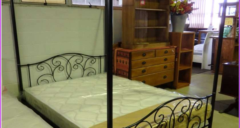Double Bed Four Poster Canopy Available White