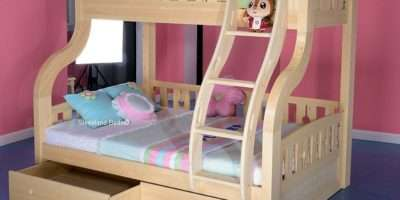 Double Bunk Bed Drawers Exclusive Childrens Triple