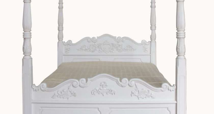 Double Colonial Four Poster Bed Solid Mahogany