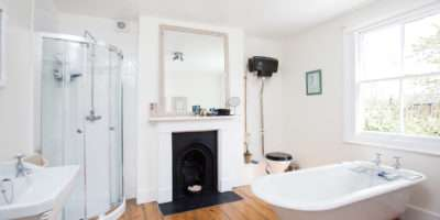 Double Room Private Bath Shower Green
