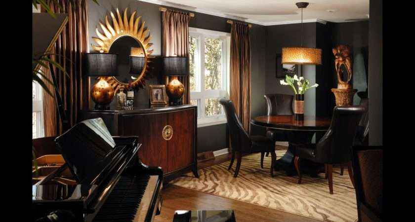 Dramatic Black Gold Brown Rooms Youtube