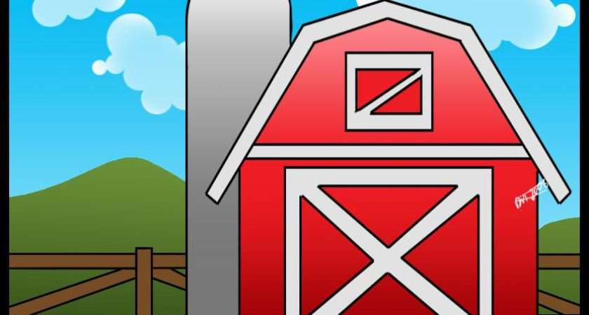 Draw Barn Step Buildings Landmarks Places